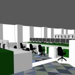 Werkplekken en vloer
